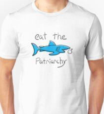 Essen Sie das Patriarchat-feministische Haifisch-Hemd Unisex T-Shirt