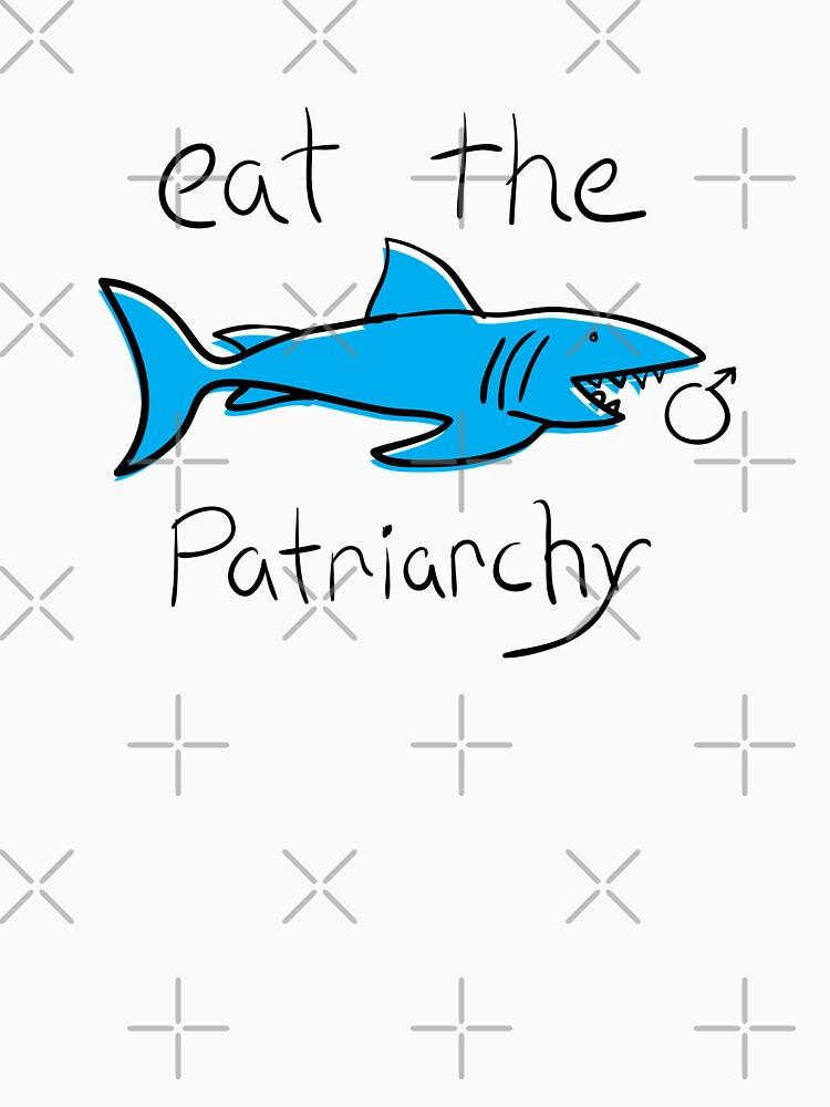 Eat The Patriarchy Feminist Shark Shirt by feministshirts