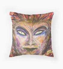 The Demon of a Painter  Throw Pillow
