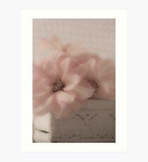 Dahlias - Oh So Soft! Art Print