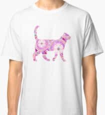 Pink Rainbow Gem Cat Classic T-Shirt