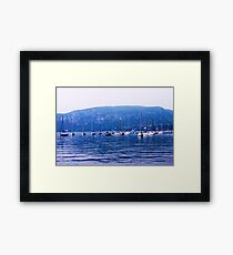 boats on lake garda Framed Print