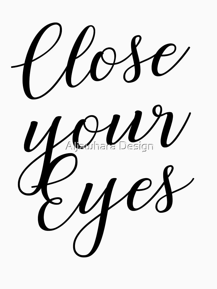 cierra tus ojos de designersara