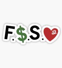 F Money Spread Love Forest Hills Drive  Sticker