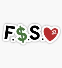 F Money Spread Love Forest Hills Drive  Sticker