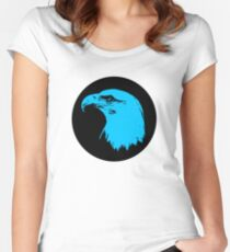 Bald Eagle in Blue T-Shirt Women's Fitted Scoop T-Shirt