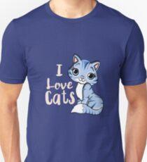 ich liebe Katzen Slim Fit T-Shirt