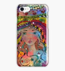 Whimiscal Girl Love Forever iPhone Case/Skin