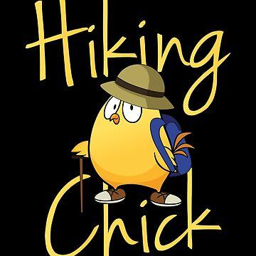 hike chicken woman girl hiker hike by yoddel
