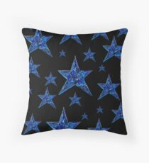 Velvet night Throw Pillow