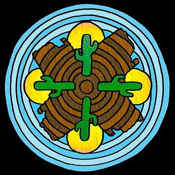 Desert Themed Mandala by gorff