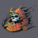 Samurai Skull by tobiasfonseca