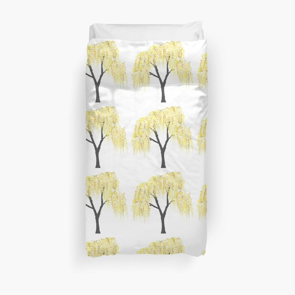 Yellow Willow Duvet Cover