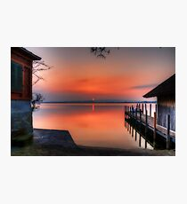 Sunset at Lake Zug Photographic Print