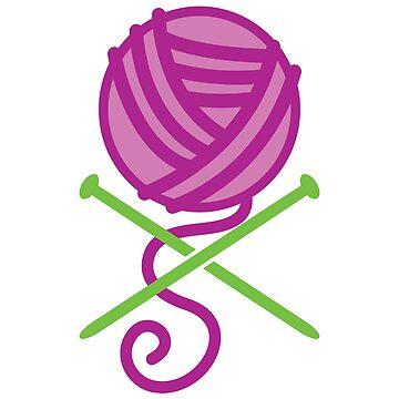 purple ball of yarn by jazzydevil