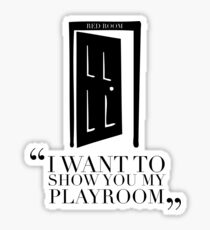CHRISTIAN GREY - PLAYROOM Sticker