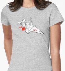 A Hero's paper crane Womens Fitted T-Shirt