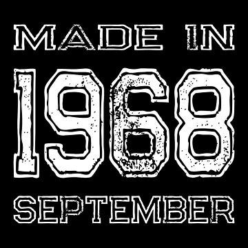 Birthday Made in 1968 September by FairOaksDesigns