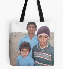 desert boys, rajasthan 2 Tote Bag