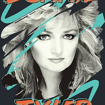 Bonnie Tyler 80s Retro Faded Vintage 1980s Pop Eclipse of the Heart by neonfuture