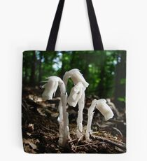 Indian Pipes In The Forest Tote Bag