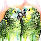 Amazon Parrots by Holley-Ryan