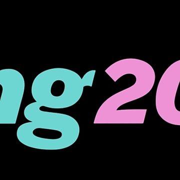 Andrew Yang 2020 YangGang Meme Pink Revolution Gang Retro Logo Yangwave 80s Black Background HD HIGH QUALITY Online Store by iresist