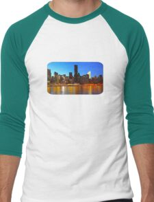 City Night Art Men's Baseball ¾ T-Shirt