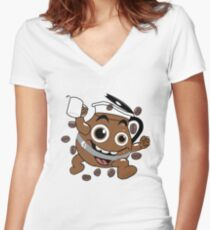Coffee ! Women's Fitted V-Neck T-Shirt