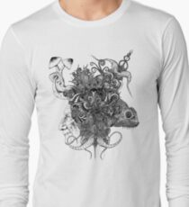 Psilocybinaturearthell Psychedelic Ink Illustration Long Sleeve T-Shirt