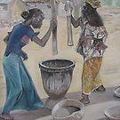 Malian Women Susuing by cszuger