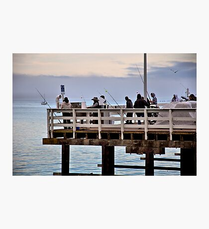 Fishin' On The Wharf Photographic Print