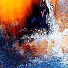 cascading waterfall... ocean blue foam #6  by banrai