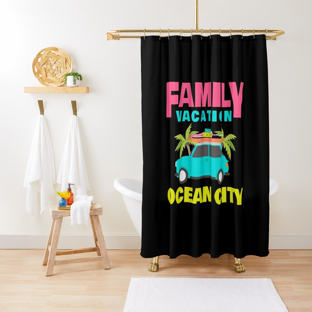 """Family Vacation Ocean City Apparel"" Shower Curtain By"