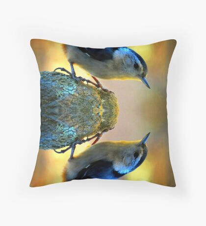 Reflecting Pool Nuthatch  Throw Pillow