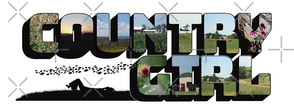 Country Girl Big Letter by Colleen Cornelius