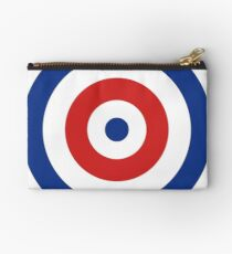 Circles Red White And Blue  Studio Pouch