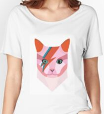 Bowie Cat Women's Relaxed Fit T-Shirt