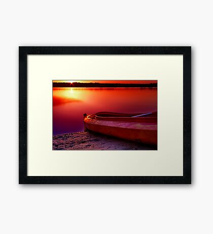 """Riverside Dawn"" Framed Print"
