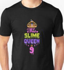 Diese Slime Queen ist 9, Slime Queen 9. Geburtstag, Slime Birthday Party Slim Fit T-Shirt