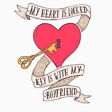 Cute Heart Padlock Key Boyfriend Gift by Tigarlily