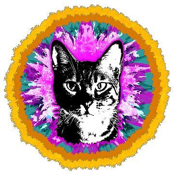 Hippie Katze - für alle Katzenliebhaber!  von Periartwork
