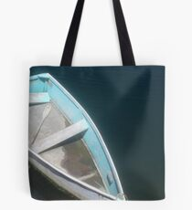Little Blue Dinghy at the Dock Tote Bag