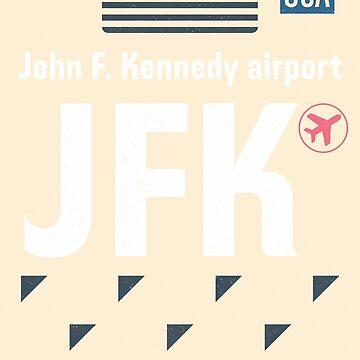 Airport code JFK New York 1 by Aviators
