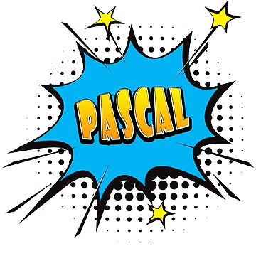 Comic book speech bubble font first name Pascal by PM-Names