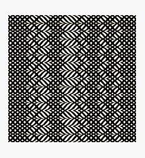 Elegantes genähtes schwarzes Beschaffenheits-Patten Fotodruck