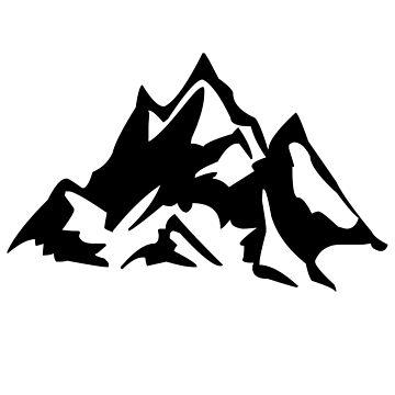 Mountain symbol mountain mountains nature range by PM-TShirts