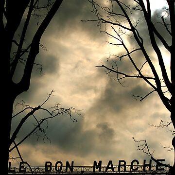 Le Bon Marché Paris France Photography on Sale by tobiphoto