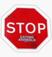 Stop Eating Animals T-Shirt Glossy Sticker