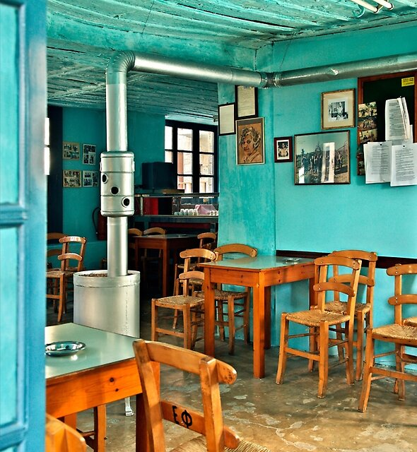 The oldest coffee shop in Greece by Hercules Milas